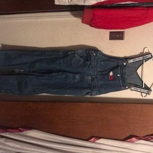 Unisex Tommy Hilfiger Jean overalls size small